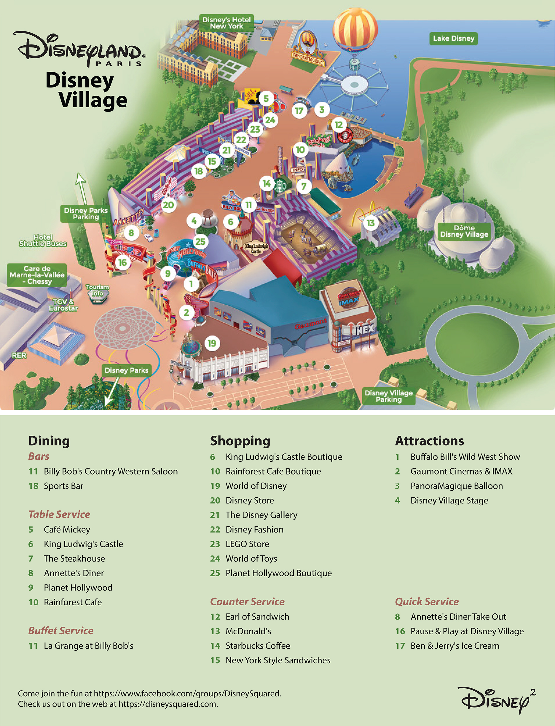 Maps Guides Disney Squared